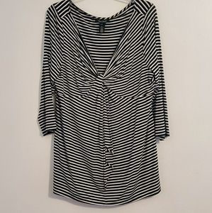 White House Black Market Striped Tunic Top